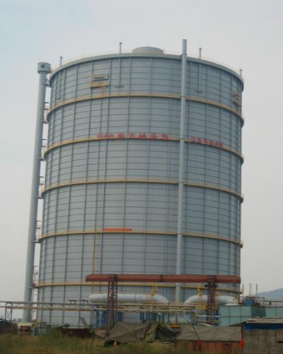 湖北鄂钢20万m310Kpa圆筒型稀油密封高炉煤气柜
