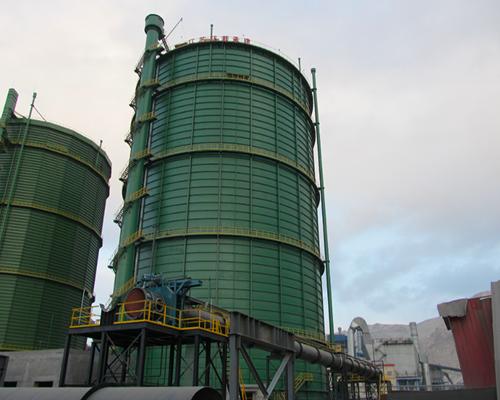内蒙古包钢乌海万腾钢铁10万m312.5Kpa圆筒型稀油密封煤气柜(右)