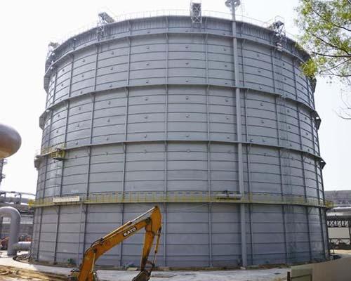 河北唐山钢铁8万m3圆筒型橡胶膜密封高炉煤气柜