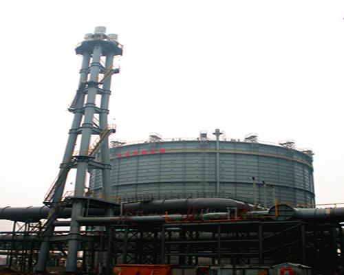 江苏常州中天钢铁12万m3圆筒型橡胶膜密封转炉煤气柜及放散塔