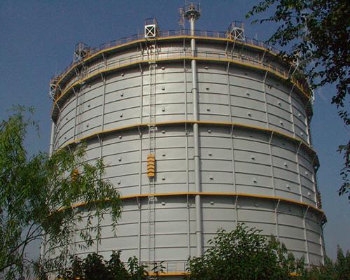 河北唐山春兴特钢5万m3圆筒型橡胶膜密封(单段式)转炉煤气柜